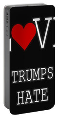 Love Trumps Hate Portable Battery Charger