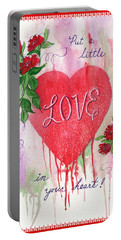 Portable Battery Charger featuring the painting Love Valentine by Marilyn Smith