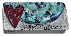 Love Wins Portable Battery Charger by Kirsten Reed
