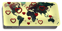 Love World Map 2 Portable Battery Charger