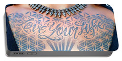Love Your Life Tattoo Portable Battery Charger by Barbie Corbett-Newmin