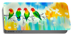 Lovebirds On A Branch Portable Battery Charger