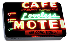 Loveless Cafe- Art By Linda Woods Portable Battery Charger by Linda Woods