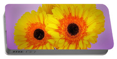 Lovely And Beautiful - Gerbera Daisies Portable Battery Charger