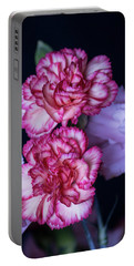 Lovely Carnation Flowers Portable Battery Charger by Ester Rogers