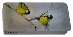 Lovely Chickadees Portable Battery Charger