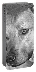 Portable Battery Charger featuring the drawing Lovely Dog by Lucia Sirna