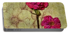 Lovely Dried Roses Portable Battery Charger