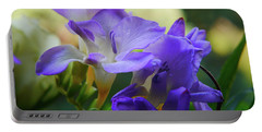 Portable Battery Charger featuring the photograph Lovely Freesia's by Lance Sheridan-Peel