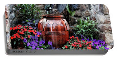Portable Battery Charger featuring the photograph Lovely Garden  by Trina Ansel