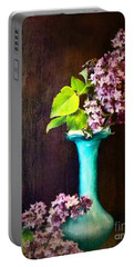 Lovely Lilacs Portable Battery Charger