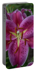 Lovely Lily Portable Battery Charger by Roberta Byram