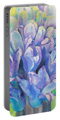 Lovely Lupine Portable Battery Charger by Ruth Kamenev