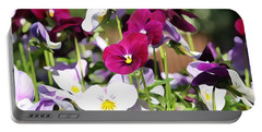 Lovely Pansies  Portable Battery Charger by Gabriella Weninger - David