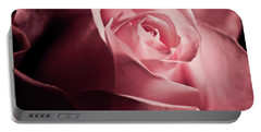 Portable Battery Charger featuring the photograph Lovely Pink Rose by Micah May