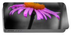 Portable Battery Charger featuring the photograph Lovely Purple And Orange Coneflower Echinacea by Shelley Neff