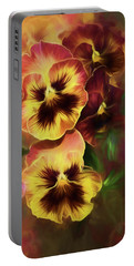 Lovely Spring Pansies Portable Battery Charger by Diane Schuster