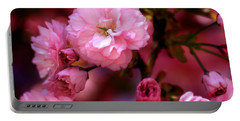 Lovely Spring Pink Cherry Blossoms Portable Battery Charger