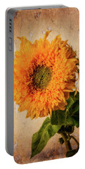 Lovely Textured Sunflower Portable Battery Charger