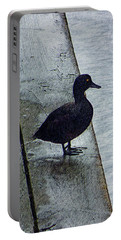 Lovely Weather For Ducks Portable Battery Charger by Steve Taylor