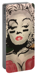 Lover And A Fighter  Portable Battery Charger by Miriam Moran
