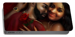 Lovers Portrait Portable Battery Charger