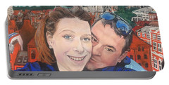 Lovers Selfie In York, England Portable Battery Charger