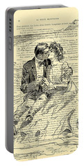 Loving Couple By The Sea Portable Battery Charger