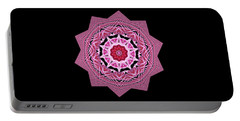 Loving Rose Mandala By Kaye Menner Portable Battery Charger
