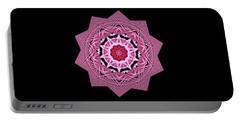 Loving Rose Mandala By Kaye Menner Portable Battery Charger