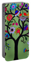 Portable Battery Charger featuring the painting Loving Tree Of Life by Pristine Cartera Turkus