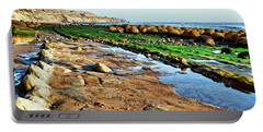 Low Tide At Bowling Ball Beach Portable Battery Charger