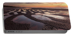 Low Tide At Sunset --horizontal Portable Battery Charger