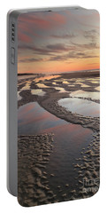Low Tide At Sunset --vertical Portable Battery Charger