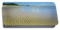 Low Tide Beach Ripples Portable Battery Charger