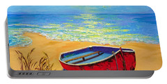 Low Tide - Impressionistic Art, Landscpae Painting Portable Battery Charger
