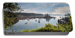 Portable Battery Charger featuring the photograph Low Tide, Port Clyde, Maine #8507 by John Bald