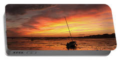 Low Tide Sunset Sailboats Portable Battery Charger