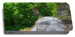 Portable Battery Charger featuring the photograph Lower Falls 0485 by Guy Whiteley