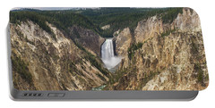 Lower Falls Of The Yellowstone Portable Battery Charger