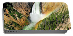 Lower Falls Rainbow Portable Battery Charger by Greg Norrell