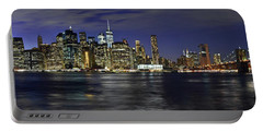 Lower Manhattan From Brooklyn Heights At Dusk - New York City Portable Battery Charger