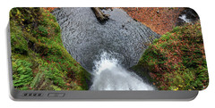 Lower Multnomah Falls From Benson Bridge - Columbia Gorge Portable Battery Charger by Gary Whitton