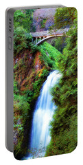 Lower Multnomah Waterfall In The Columbia River Gorge Portable Battery Charger