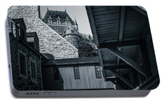 Portable Battery Charger featuring the photograph Lower Town Back Alley  by Chris Bordeleau