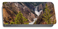 Lower Yellowstone Canyon Falls 5 - Yellowstone National Park Wyoming Portable Battery Charger