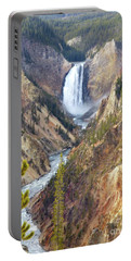 Lower Yellowstone Falls From Artist Point Portable Battery Charger