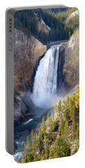 Lower Yellowstone Falls From Inspiration Point Portable Battery Charger