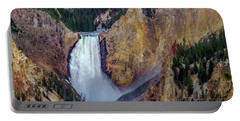 Portable Battery Charger featuring the photograph Lower Yellowstone Falls II by Bill Gallagher
