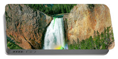 Portable Battery Charger featuring the photograph Lower Yellowstone Falls by Todd Klassy